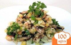 Фото рецепта: «Картофельный салат с шампиньонами и огурцами»