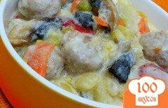 Фото рецепта: «Рагу с фрикадельками в сметанном соусе»
