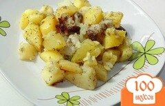 Фото рецепта: «Картофель с салом и луком в рукаве»