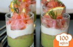 Фото рецепта: «Веррины из лосося, сливочного сыра и авокадо»