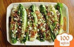 Фото рецепта: «Салат из латука с сыром и беконом»