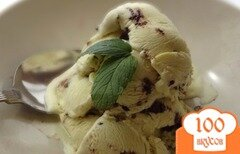 Фото рецепта: «Мятное мороженое с шоколадом»