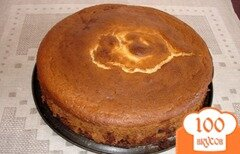 Фото рецепта: «Кукурузно-творожная запеканка с изюмом»