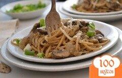 Фото рецепта: «Спагетти с грибами и сыром»