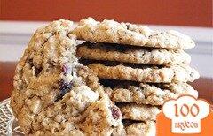 Фото рецепта: «Овсяное печенье с клюквой и шоколадом»