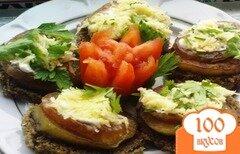 Фото рецепта: «Тосты с колбасой и баклажаном»