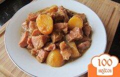 Фото рецепта: «Мясо с картофелем в фольге»