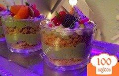 Фото рецепта: «Десертный крем из авокадо с личи»