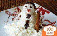 Фото рецепта: «Снеговик из творога»