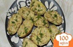 Фото рецепта: «Картофельные лодочки с нежной начинкой»