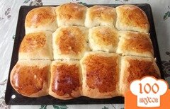 Фото рецепта: «Булочки с луком и яйцами»