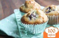 Фото рецепта: «Черничные кексы Мохито»