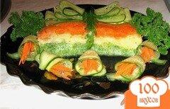 """Фото рецепта: «Рыбная запеканка с брокколи """"Нарядная""""»"""