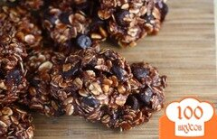 Фото рецепта: «Шоколадно-овсяное печенье»