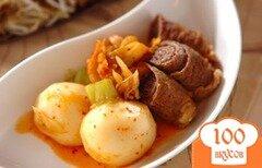 Фото рецепта: «Роллы из говядины с вареной репой»