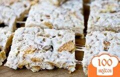Фото рецепта: «Ванильное печенье с воздушным рисом»