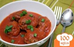 Фото рецепта: «Тефтели в томатном соусе с мятой»