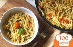 Фото рецепта: «Паста с горошком и помидорами»