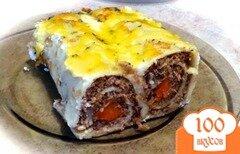 Фото рецепта: «Блинчики с мясом и черносливом»