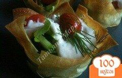 Фото рецепта: «Овощной салатик в корзиночках из теста Брик»