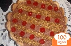 Фото рецепта: «Торт с шоколадным муссом и карамелизироваными орехами»