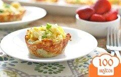Фото рецепта: «Омлет в картофельных гнездах»