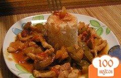 Фото рецепта: «Курица по-китайски с ананасами»