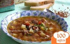 """Фото рецепта: «Томатный суп со свининой и рисом """"Рубин""""»"""