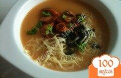 Фото рецепта: «Фасолевый суп-пюре с копчеными сосисками»