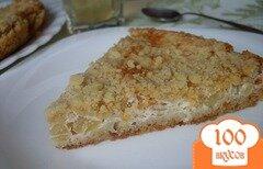 Фото рецепта: «Творожный пирог с яблоками»