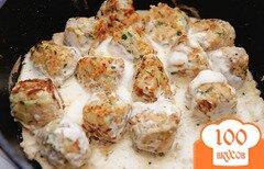 Фото рецепта: «Рыбные шарики в сметане»