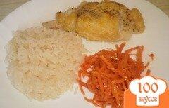Фото рецепта: «Треска в нутовой муке с рисом»