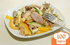 Фото рецепта: «Салат с говядиной и перцем»