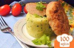 Фото рецепта: «Ароматное картофельное пюре с кинзой и чесноком.»