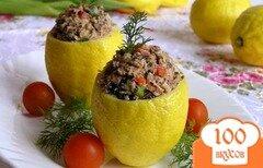 Фото рецепта: «Лимоны с салатом из тунца»