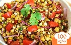 Фото рецепта: «Кукурузный салат с помидорами»