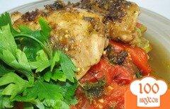 Фото рецепта: «Пряная курица на овощной подушке»