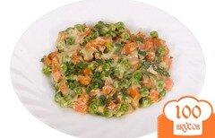 Фото рецепта: «Морковь с зелёным горошком»