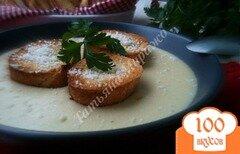 Фото рецепта: «Сырный суп с гренками»