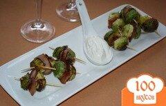 Фото рецепта: «Канапе из брюссельской капусты с беконом»