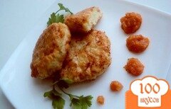 Фото рецепта: «Необычные рыбные котлеты с фруктово-овощным конфитюром»