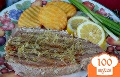 Фото рецепта: «Стейки тунца с лимонным маслом и черным перцем»