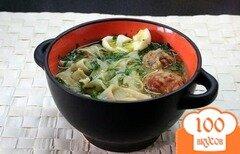 Фото рецепта: «Домашняя лапша с фрикадельками»