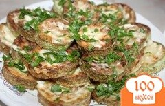 Фото рецепта: «Жареные кабачки с чесночным соусом»