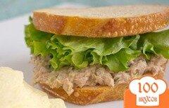 "Фото рецепта: «Бутерброд ""Салат с тунцом""»"