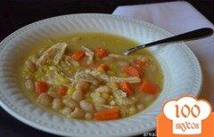 Фото рецепта: «Суп с курицей и фасолью»