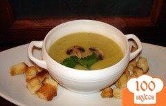 Фото рецепта: «Грибной суп-пюре с кабачком и сухариками»