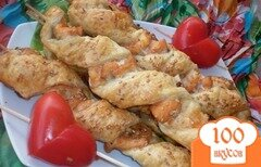 Фото рецепта: «Шашлык из рыбы в духовке»