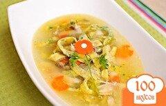 Фото рецепта: «Суп с яичной лапшой»