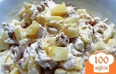 Фото рецепта: «Куриный салат с ананасом»